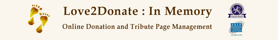 Online Donation and Tribute Page Management