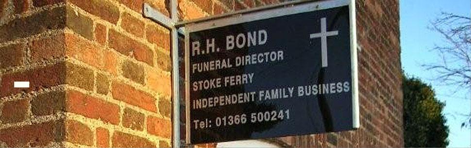 RH Bond Funeral Directors Sign